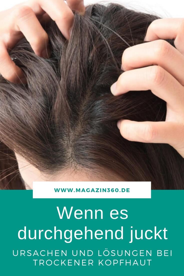 Wenn es durchgehend juckt - Ursachen und Lösungen bei trockener Kopfhaut