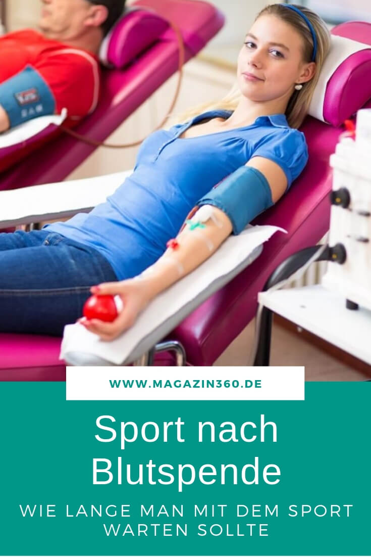 Sport nach der Blutspende - Wie lange man mit dem Sport warten sollte