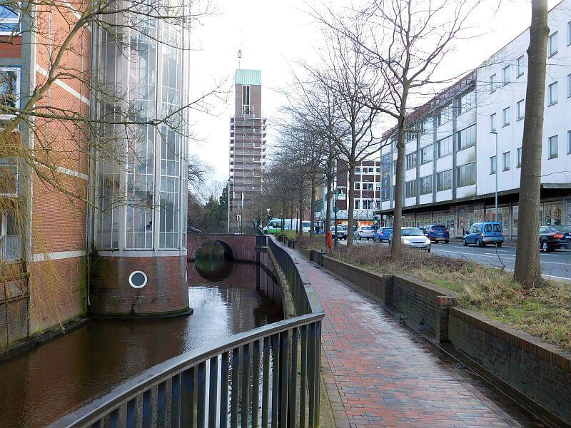 Gracht in der Innenstadt Emdens