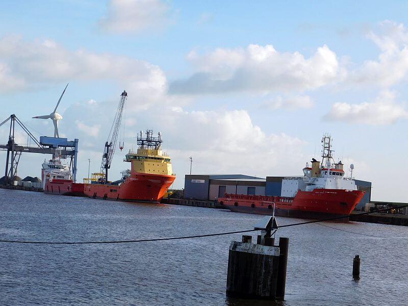 Teil des neuen Emder Binnenhafens